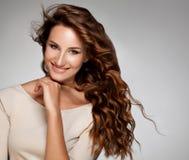Immagine rossa di alta qualità dei capelli. Fotografia Stock