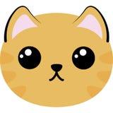 Immagine semplice della testa del gatto sveglio illustrazione vettoriale