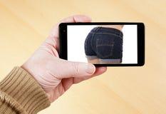 Immagine sexy sullo Smart Phone fotografie stock
