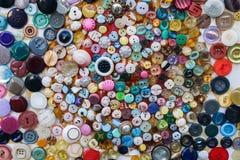 Immagine sopra molti bottoni multicolori Fotografia Stock