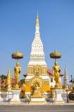 Immagine stante e Chedi di Buddha Immagini Stock Libere da Diritti