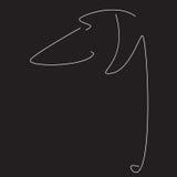 Immagine stilizzata del bassotto tedesco Fotografia Stock Libera da Diritti
