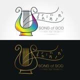 Immagine stilizzata del logo della lira Fotografia Stock