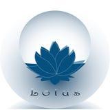 Immagine stilizzata di loto blu Immagini Stock