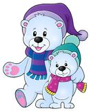 Immagine stilizzata 1 di tema degli orsi polari Fotografie Stock Libere da Diritti