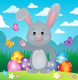 Immagine stilizzata 1 di tema del coniglietto di pasqua Fotografia Stock