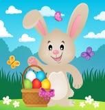 Immagine stilizzata 4 di tema del coniglietto di pasqua Fotografia Stock Libera da Diritti
