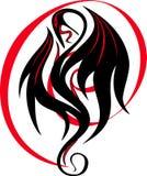Immagine stilizzata di un drago illustrazione di stock