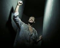 Immagine stupefacente dell'uomo trionfante Immagine Stock Libera da Diritti