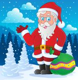 Immagine tematica 4 del Babbo Natale Fotografia Stock Libera da Diritti