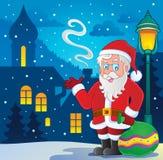 Immagine tematica 7 del Babbo Natale Fotografie Stock