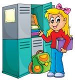 Immagine tematica 1 della scuola illustrazione di stock