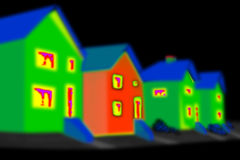 Immagine termica Fotografia Stock