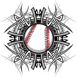 Immagine tribale di vettore softball/di baseball Immagine Stock Libera da Diritti