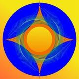 Immagine variopinta dell'estratto della stella di 4 punti Immagine Stock Libera da Diritti
