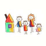 Immagine variopinta della famiglia felice Immagini Stock