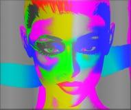 Immagine variopinta di Pop art del fronte di una donna royalty illustrazione gratis