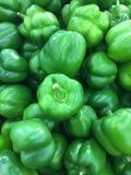 Immagine verde del capsico Fotografia Stock