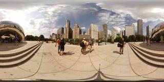 immagine 360vr del portone della nuvola Fotografia Stock