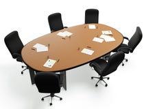 immagini 3D: una grande tavola rotonda Fotografia Stock Libera da Diritti
