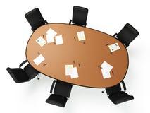 immagini 3D: una grande tavola rotonda Fotografia Stock