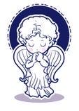 Immagini bambine di angelo di preghiera - parte anteriore royalty illustrazione gratis
