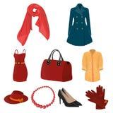 Immagini circa i tipi di abbigliamenti del ` s delle donne Fotografia Stock Libera da Diritti
