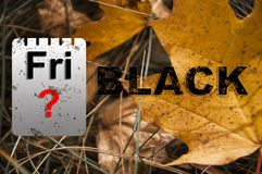 Immagini con testo venerdì nero grandi vendite di pubblicità della soluzione fotografie stock