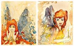 immagini degli angeli illustrazione vettoriale