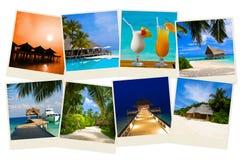 Immagini dei maldives della spiaggia di estate Immagine Stock Libera da Diritti