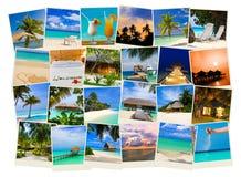 Immagini dei maldives della spiaggia di estate Immagini Stock Libere da Diritti