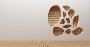 Immagini della rappresentazione della parete 3d di interior design Fotografia Stock
