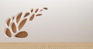 Immagini della rappresentazione della parete 3d di interior design Fotografie Stock