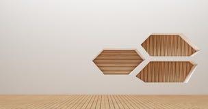 Immagini della rappresentazione della parete 3d di interior design Immagini Stock Libere da Diritti