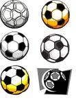 Immagini della sfera di calcio Fotografia Stock