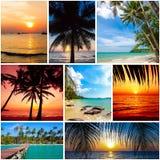 Immagini della spiaggia di estate fondo di viaggio e della natura (le mie foto) Immagini Stock Libere da Diritti