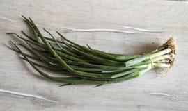 Immagini delle cipolle verdi e del prezzemolo fresco per la prima colazione Fotografie Stock
