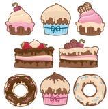 Immagini delle torte isolate Immagine Stock