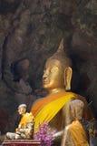 Immagini di Buddha in caverna di Khao Luang Fotografie Stock