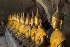 Immagini di Buddha in caverna di Khao Luang, provincia di Phetchaburi, Tailandia Fotografie Stock