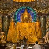 Buddha - pagoda di Shwedagon - Rangoon - Myanmar Fotografie Stock