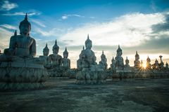 Immagini di Buddha, Wat Thung Yai, Nakhon Si Thammarat, Tailandia fotografie stock libere da diritti