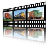 Immagini di Railroading su una striscia di pellicola Fotografia Stock Libera da Diritti