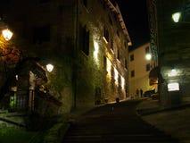 Immagini di sera di Gubbio Fotografie Stock Libere da Diritti