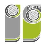 Immagini di sfondo per testo sul tema di hockey su prato Fotografie Stock Libere da Diritti