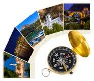 Immagini di viaggio del Montenegro le mie foto e bussola Immagine Stock Libera da Diritti