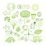 Grafica vettoriale ed ecologia delle icone royalty illustrazione gratis