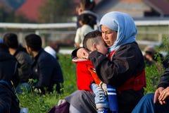 Immagini drammatiche dalla crisi slovena del rifugiato Immagine Stock Libera da Diritti
