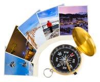 Immagini e bussola dell'Austria dello sci delle montagne Immagini Stock Libere da Diritti