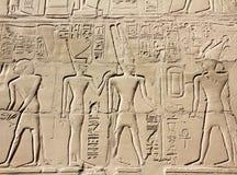 Immagini e hieroglyphics antichi dell'egitto Fotografia Stock